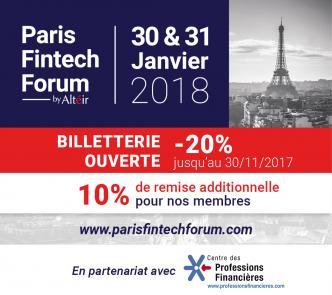 Evenement Paris Fintech Forum 2018 - Manifestion Partenaire CPF