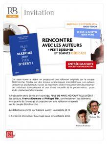 """Invitation Revue-Banque """"Plus de marché pour plus d'état""""!"""