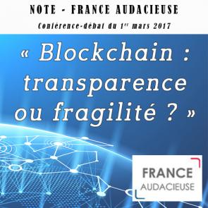 Note - France Audacieuse - blockchain CPF