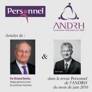 Articles de Richard DEVILLE et Marc PAGEZY dans la revue ANDRH
