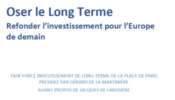 """Article """"Oser le Long Terme, refonder l'investissement pour l'Europe de demain"""""""