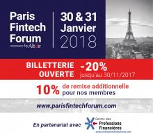 Evenement Paris Fintech Forum 2018 - Manifestion Partenaire CPF