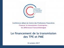 Présentation de la Conférence CMF sur le Financement de la transmission d'entreprise
